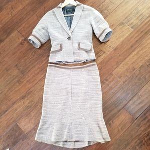 EUC BCBG Maxazria skirt and cropped jacket set